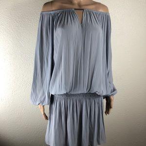 Ramy Brook New York Gray Blouson Dress Size M